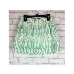 J.Crew Elastic Waist Lined Mini Skirt Size XS